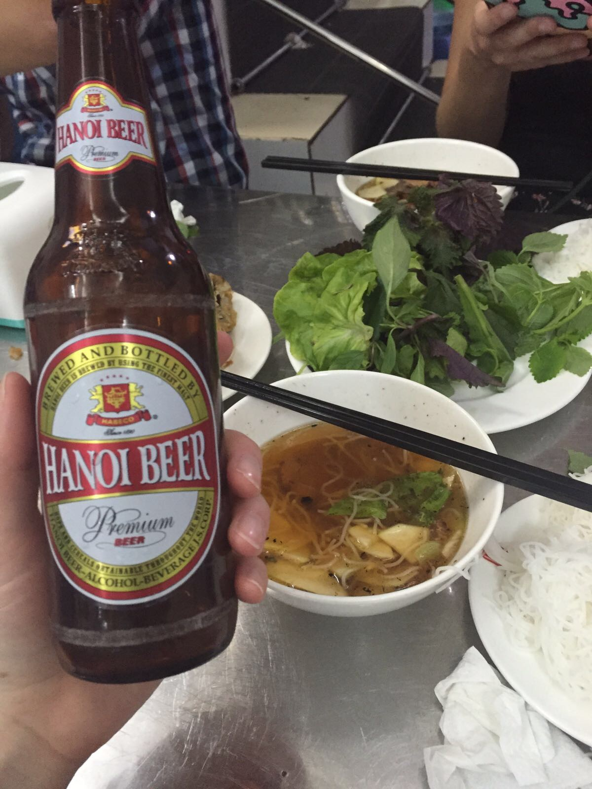 Part of the Obama combo was a local beer called, that's right, Hanoi Beer.  Thanks Obama! Good choice!